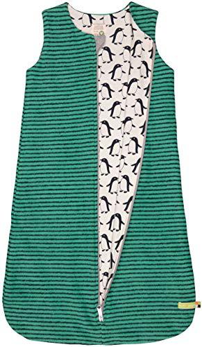 loud + proud Unisex Baby Wendeschlafsack Fleece Aus Bio Baumwolle, GOTS Zertifiziert Schlafsack, Grün Jad, 80 (Herstellergröße: 74/80)