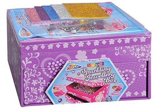 Grafix Decorate Your Own Sparkling Childrens Jewellery Box (Purple)