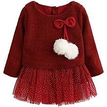 Modaworld Vestidos Bebé Niña,Vestido de Princesa Tutu recién Nacido de Punto de