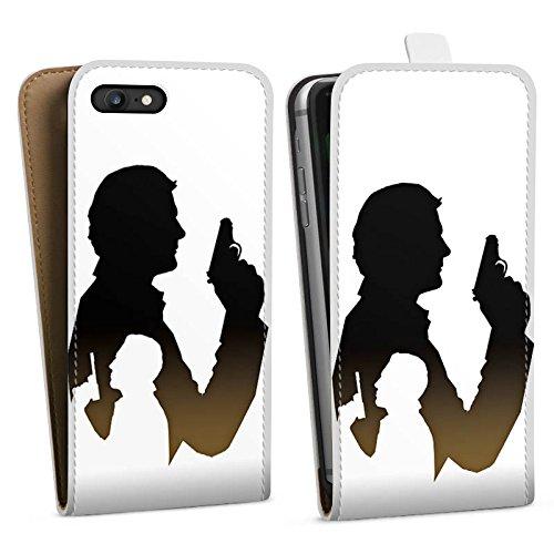 Apple iPhone X Silikon Hülle Case Schutzhülle James Bond Film Downflip Tasche weiß