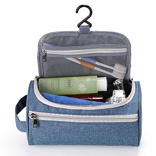 Sumnacon Nouveau Style Trousse/Sac de Toilette Carré Homme, cube avec Crochet Suspendu, Organisateur pour Gymnastique, Business et Vacance, --Dimension 24cm*13cm*13cm(L*I*H) (Bleu 1)