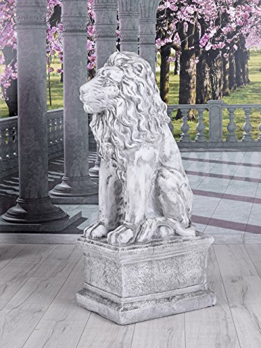 Unbekannt Löwenfigur Garten Löwe Antik Skulptur Gartenfigur Statue Torwächter Palazzo Exklusiv