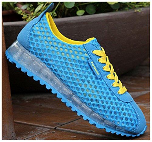 NEWZCERS scarpe da corsa traspirante estate di modo delle donne camminare scarpe da ginnastica Blau