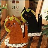 Mignon en bois vintage Dévidoir de ruban adhésif Cutter Kawaii Cat accessoire de bureau Mini Washi de coupe machine d'emballage support Split sealer kit