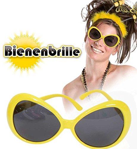 Bienen Brille gelb Sonnenbrille Käfer Tier Brille