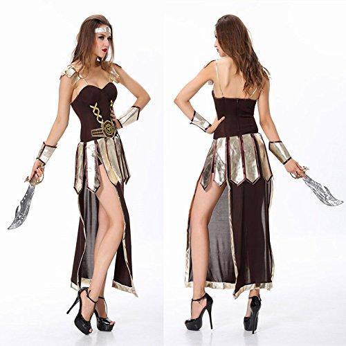 DLucc Halloween-Kostüm Arabischen antiken griechischen Gott des Krieges Roman Kriegerin Rollenspiel ()