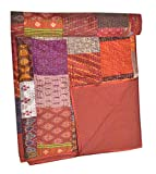 Tribal Asian Textiles Indian-Silk-patola-Kantha-Quilt-Vintage-Cotton-Bedspread-Throw-Patchwork-gudri