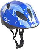 Sport Direct Boy's Silver Stars Bicycle Helmet - Blue, Size 48-52