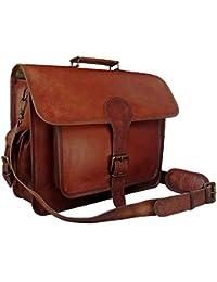 Znt Bags , 15 Inch Genuine Leather Laptop Office Messenger Bag For Men & Women NO - 1100
