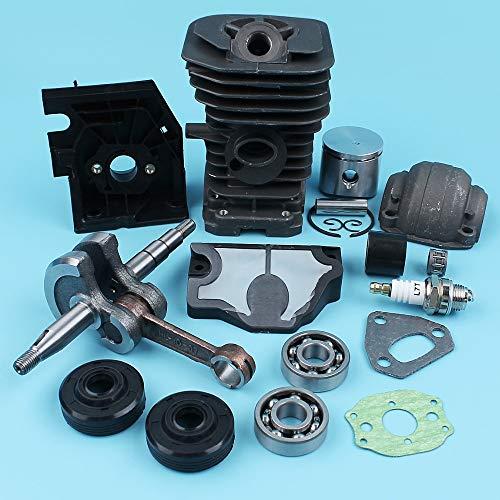 Laliva Zylinder (38 mm) Kolbenkurbelwelle Pfannenlagersatz für Husqvarna 136 137 141 142 Kettensäge Luftfilter Öldichtungen Vergaserhalter