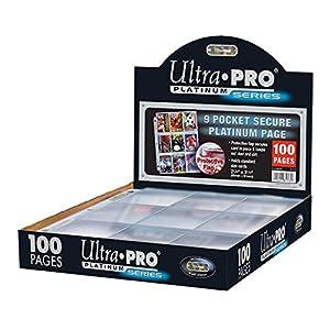Páginas con 9 bolsillos de 7 cm para guardas cartas, Ultra Pro Platinum 84732; 100 páginas