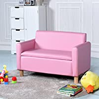 COSTWAY Kids Sofa Storage Children Armchair Single & Double Seater Seat Boys Girls Lounger Couch Padded Chair Furniture Home Indoor