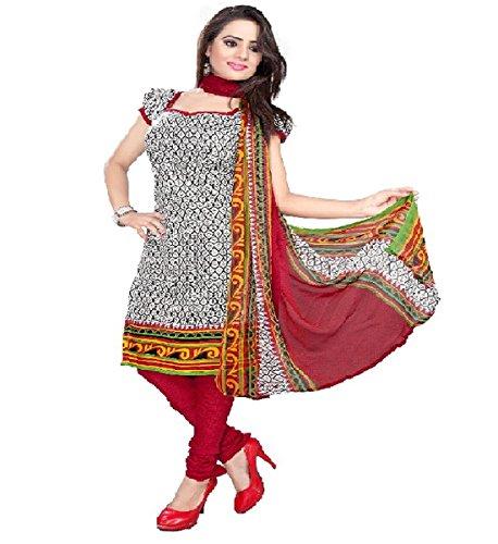 Muta Fashions Women's Crepe Dress Material (SUIT111_03_White_Free Size)