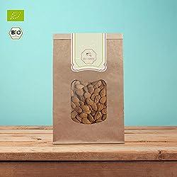 süssundclever.de® | Bio Mandeln | 1 kg | unbehandelt und naturbelassen | plastikfrei und ökologisch-nachhaltig verpackt | braune Mandeln