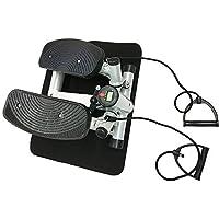 Preisvergleich für Style home® Stepper powerful stepper Mini Stepper Fitness stepper incl. Traningsbänder Display Farbwahl rot schwarz grau