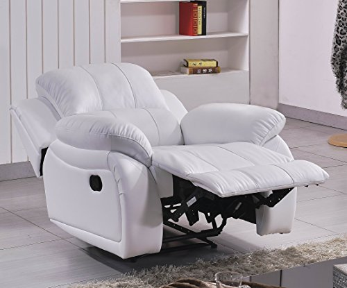 Leder Fernseh Sofa-Sessel Relaxsessel Fernsehsessel mit Schlaffunktion 5129-1-W