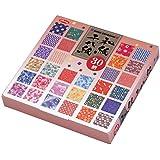 Papel Origami - Pack de Papel Washi estampado (Washi Chiyogami) - 30 patrones surtidos - 5 hojas de cada patrón - Reverso blanco - 150 hojas en total - 15cm x 15cm