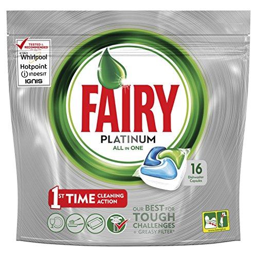 Fairy Platinum Objektivdeckel für Spülmaschine–Packung von 16x 17.50GR–insgesamt: 280gr
