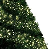 Christmas Lights 720 LED 9m Warm White Outdoor Cluster Tree Lights String Indoor Fairy Lights Memory Timer Mains Powered 29ft Lit Length10m/32ft Gutter Green Cable