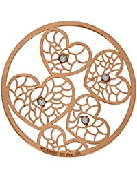 MY iMenso corazón colour insignia bisel de plata 33 mm 33-1126