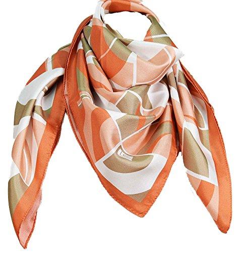 guy-laroche-platz-silk-halbes-orange-pink-kreise
