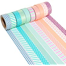 K-LIMIT 10 Set Washi Tape rollos de Washi Tape, cinta decorativa autoadhesivo, cinta de enmascarar, masking tape Scrapbooking DIY Washitape Scrapbooking DIY 6170