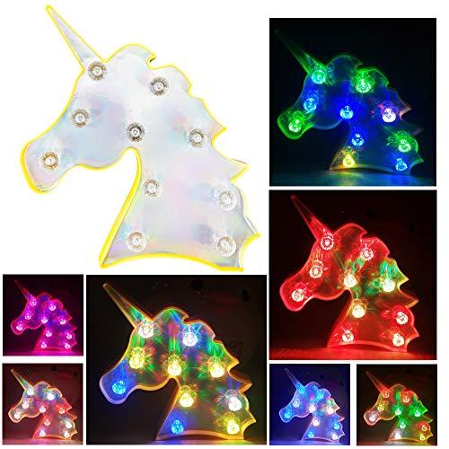 LED Unicorn Farbwechsel Nachtlicht Diamant Einhorn Nachtlicht Romantische Atmosphäre Lampe Halloween Christmas Party Dekoration