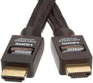 AmazonBasics Câble HDMI Haute Performance Compatible Ethernet / 3D / Retour audio [Nouvelles normes] 3 m