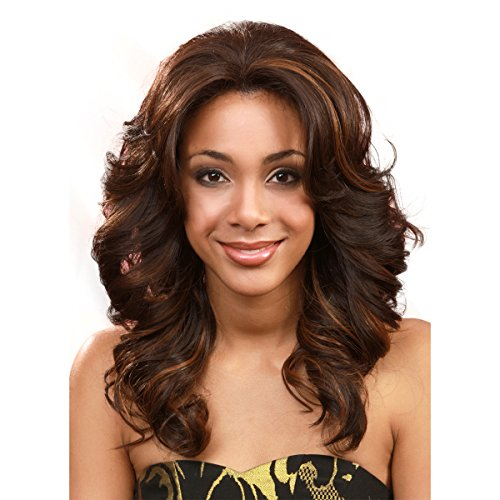 Lace Front Perücke Pearl (BOBBI BOSS Lace Front Wig - MLF14 PEARL-S - Color# 1B - Off Black by BOBBI BOSS)