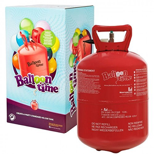 Preisvergleich Produktbild Helium Ballongas 240 Liter XXL Einwegflasche für Ballons aus Latex oder Folienballons Lieferung von Haus der Herzen