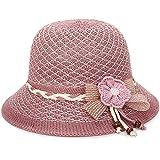 Yeshai3369 Chapeau de Soleil en Forme de Fleur pour Femme, Rosa Scuro