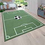 Tappeto da Gioco per la cameretta dei Bambini con Design del Gioco del Calcio, in Verde, Dimensione:80x150 cm