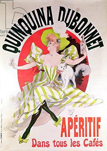 """Alu-Dibond-Bild 80 x 110 cm: """"Poster advertising Quinquina Dubonnet aperitif, 1895 (colour litho)"""", Bild auf Alu-Dibond"""