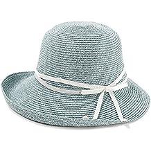 ZXQZ Sombrero Femenino Sombrero de Paja Plegable de Verano Sombrero de  Playa de protección Solar Exterior 8c2202fcabe
