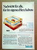 70er Jahre : BECEL MARGARINE - alte Werbung /Originalwerbung/ Printwerbung /Anzeige /Anzeigenwerbung Format 15,5 x 27,5 cm