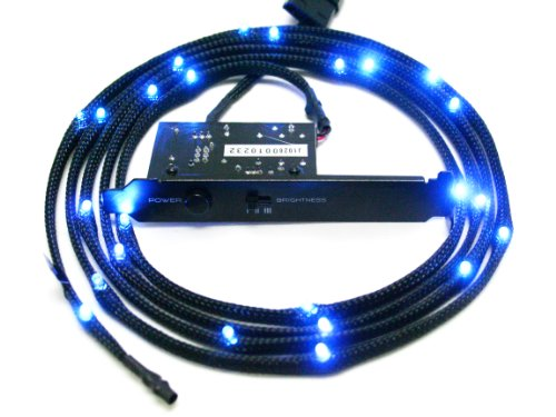 NZXT CB-LED20-BU Sleeved LED Kit blau