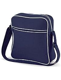 Bag Base - sacoche bandoulière - RETRO FLIGHT BAG BG16 - mixte - coloris bleu marine