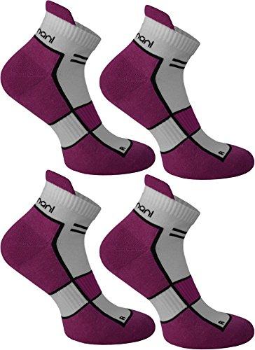 4 Paar Running Sport Sneaker Funktionssocken mit Frotteesohle verstärkt Farbe Dewberry Größe 39/42 (Dewberry Bekleidung ')