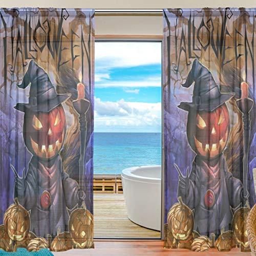 �rbis Zauberer Voile Tüll Fenstervorhänge, 2 Panels Set für Home Küche Schlafzimmer Wohnzimmer, 55 W X 84 L Zoll ()
