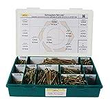 Sortiment/Set Spanplattenschrauben Torx verzinkt gelb - Durchmesser 3,0 bis 6,0 mm - Holzschrauben mit Senkkopf