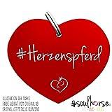 Pferde Glücksmarke 'Herzenspferd' Herz Rot von Soulhorse fürs Halfter, Trense und Zaumzeug