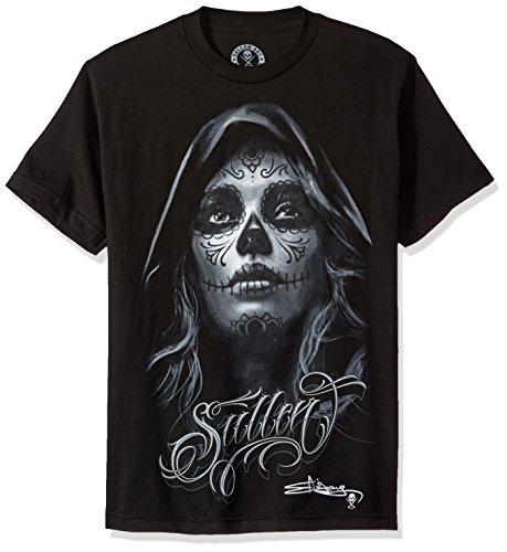 Sullen - Das dunkle Grau-T-Shirt, Schwarz, XXL (Moto Tee X-mens)