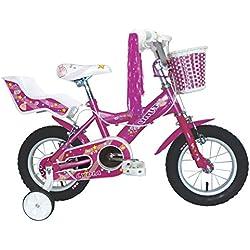 "Umit J1251 Bicicleta Infantil, Niñas, Rosa, 12"""