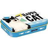 Nostalgic-Art 82204 Happy Cat |Leckerli-Dose| Leckerlis-Box | auch für Unterwegs | To Go