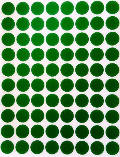 """Codificación de Color etiquetas 1/2""""redondo 13mm–Pegatinas, diseño de lunares, 5colores lunares etiqueta–mitad (rondas adhesivo"""