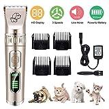 Tierhaarschneider Kit 5-Geschwindigkeit Elektrische Hundeschermaschine Hunde Katzen Drahtlose Wiederaufladbare Tierhaartrimmer Ultra Leise Haarschneidemaschine Haustier Haarschneider Schermaschine