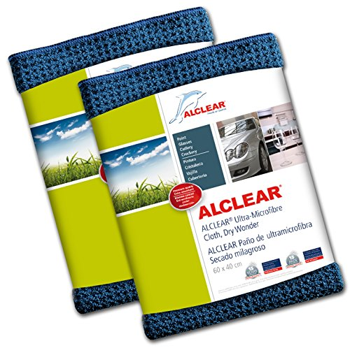 ALCLEAR Microfibre Cloth - Attracts Water Like