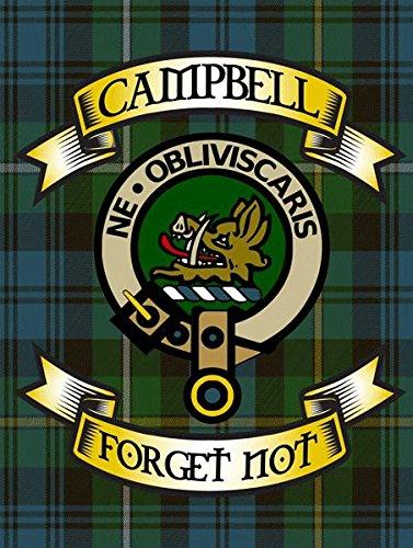 Schottische Tartan-plaid (OMSC Campbell Tartan Metall Schild, Schottische Clan Plaid und Motto)