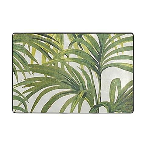 ingbags Tropische Palmen Blatt Wohnzimmer Essbereich Teppiche 3x 2Füße Bed