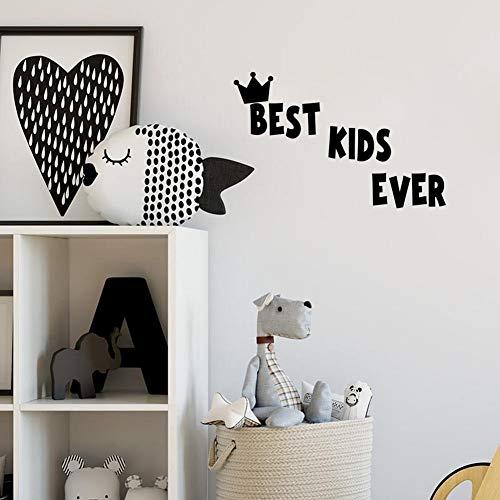 yiyiyaya Beste Kinder Aller Zeiten Zitat DIY Wandaufkleber Crown Vinyl Kinder Aufkleber für Baby Room Decor14 * 51 - Aller Halloween-cartoons Zeiten Beste